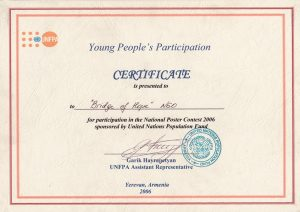 Bridge of Hope Awards_ UNFPA certificate