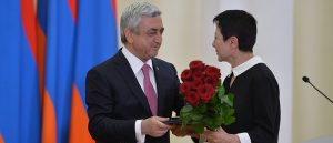 The President of Bridge of Hope with Serj Sargsyan