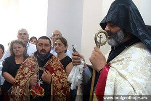 Bagrat Bishop Galstanyan during the ceremony